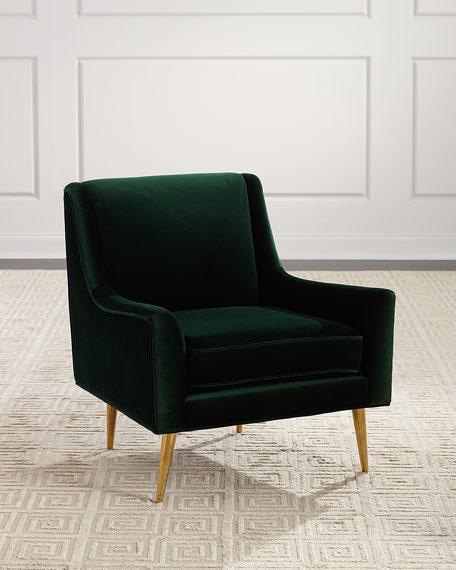 Angie Velvet Lounge Chair