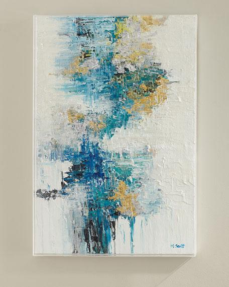 """Azure I"" Original Canvas Painting by H. Scott"