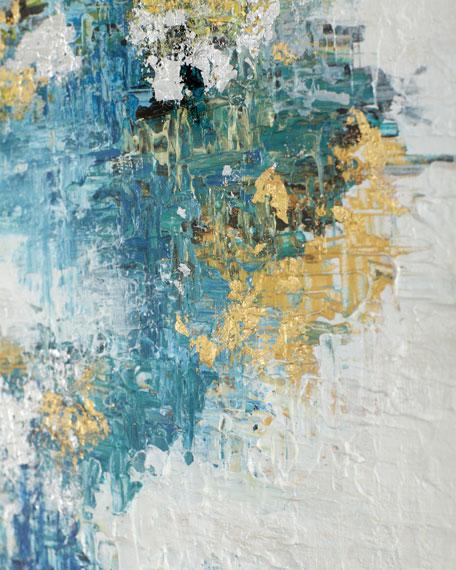 """Azure II"" Original Canvas Painting by H. Scott"