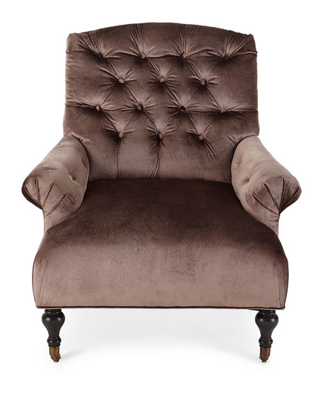 Starleaf Tufted Rolling Chair