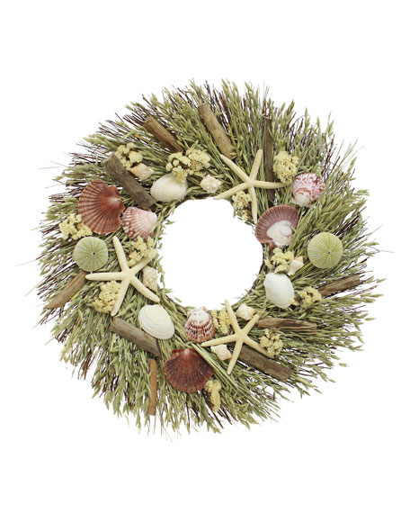Floral Treasure Coastal Wreath