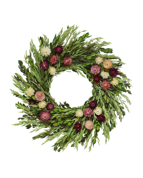 Floral Pinks Wreath