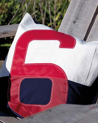 Red 6 Navy Pillow