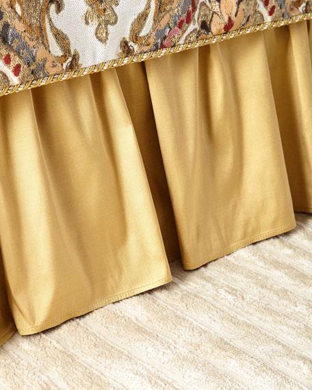 Austin Horn Collection Ruffled Silk Queen Dust Skirt