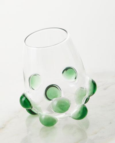 Bubble Wine Glass  Green