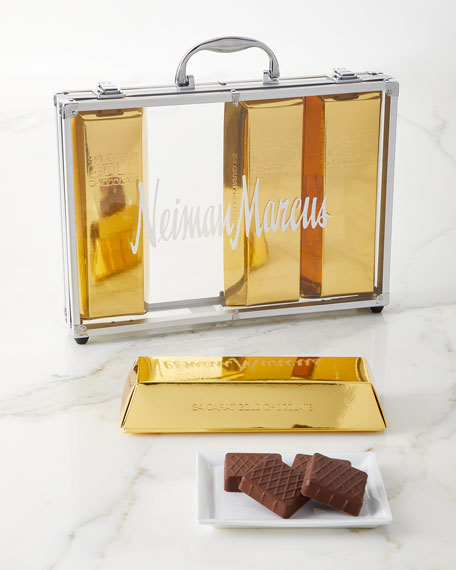 Exclusive Gold Chocolate Bar Briefcase