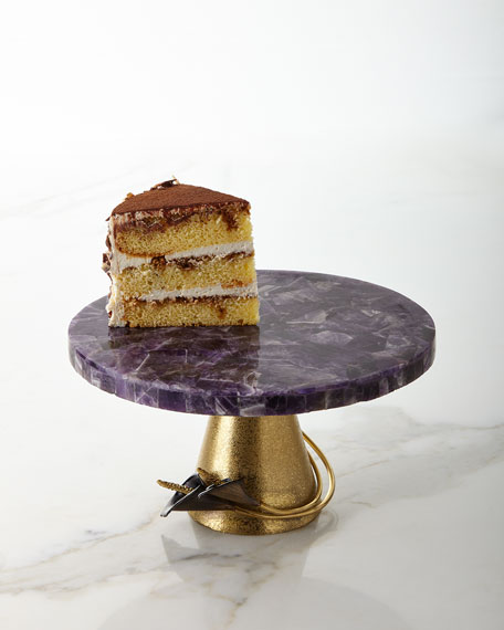 Calla Lily Midnight Amethyst Cake Stand