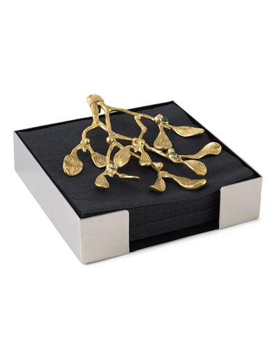 Mistletoe Cocktail Napkin Box