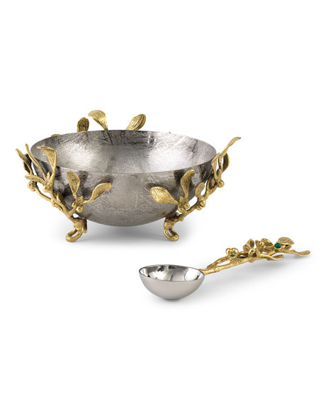 Mistletoe Small Dish with Spoon