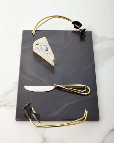 Michael Aram Calla Lily Midnight Cheese Board with