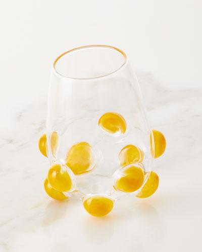 Bubble Wine Glass  Yellow