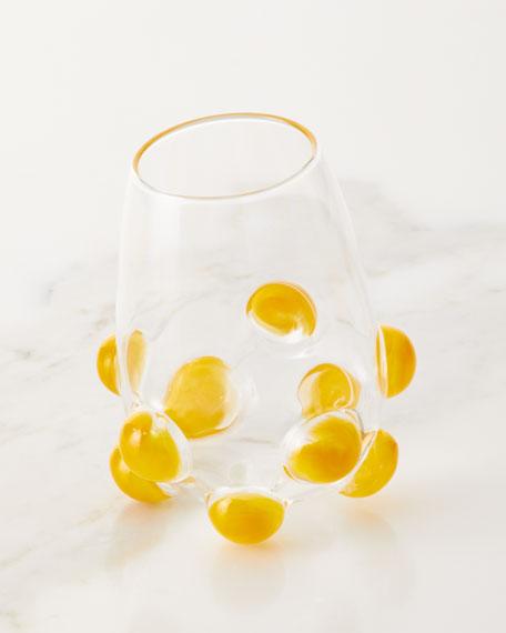 Bubble Wine Glass, Yellow