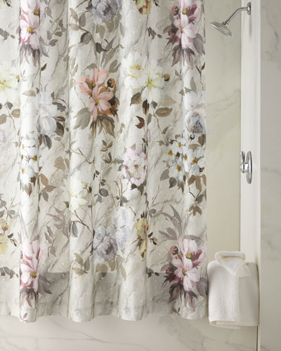 Fresco Fiore Platinum Shower Curtain
