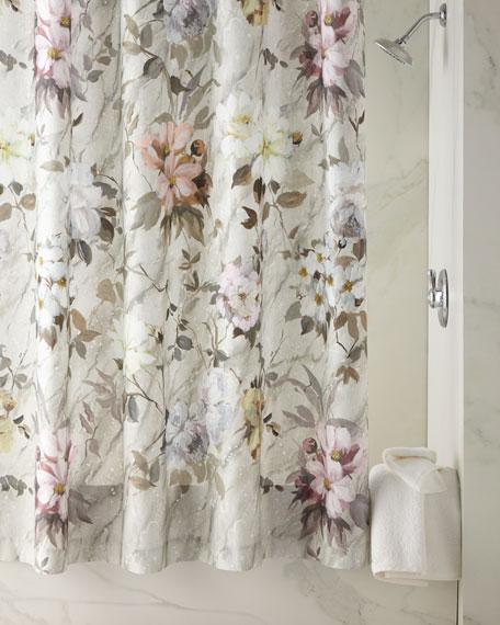 Designers Guild Fresco Fiore Platinum Shower Curtain