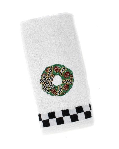 MacKenzie-Childs Wreath Fingertip Towel