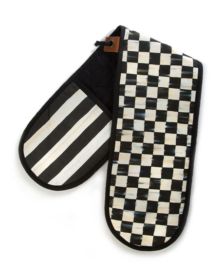 MacKenzie-Childs Courtly Check Large Double Oven Mitt