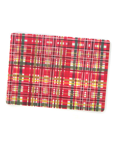 Festive Tartan Cork Back Placemats  Set of 4