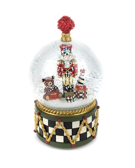 MacKenzie-Childs Nutcracker Snow Globe