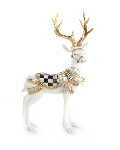 White Bow Tie Deer Standing