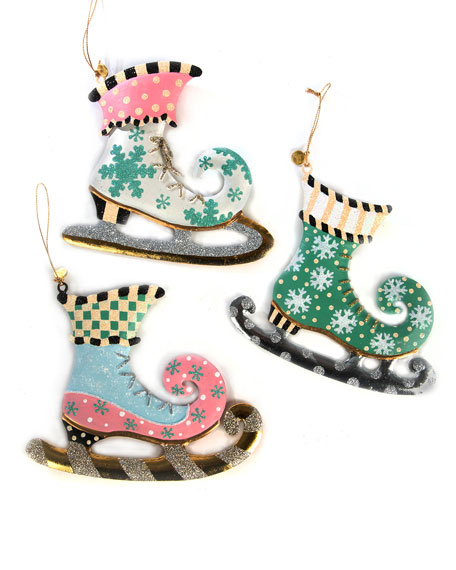 Home Sweet Snow Skate Ornaments, Set of 3