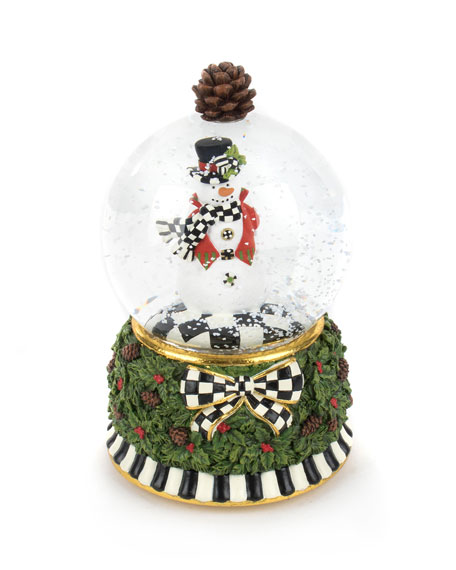 MacKenzie-Childs Snowman Snow Globe