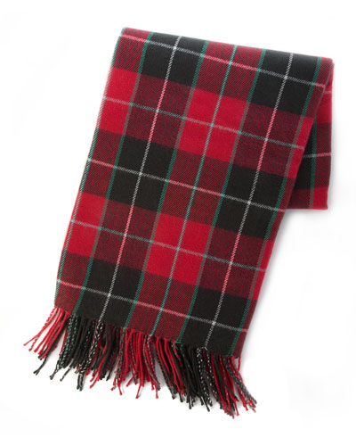 Plaid Fringe Throw