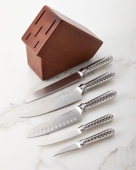 MacKenzie-Childs Check 6-Piece Knife Set