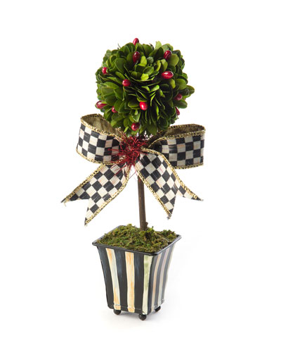 Deck The Halls Boxwood Topiary