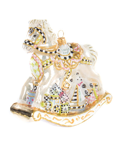 Baby's First Carousel Horse Glass Ornament