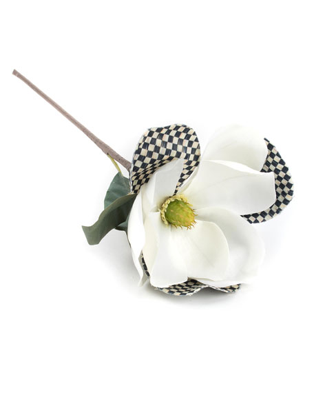 MacKenzie-Childs Courtly Check White Magnolia Pick