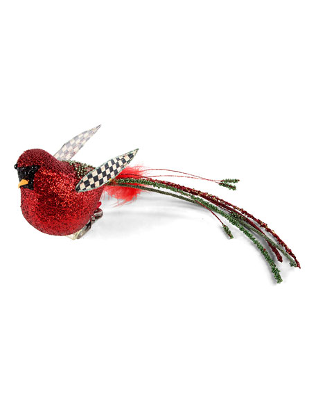 MacKenzie-Childs Beaded Cardinal Clip