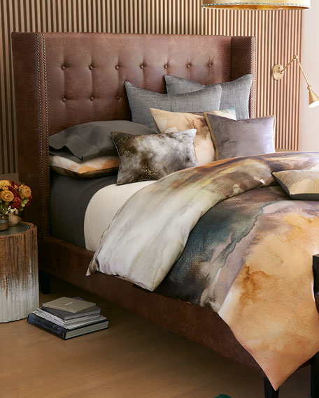 Journey Tufted King Shelter Bed