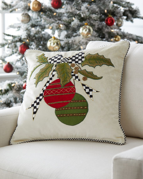 Cascading Ornaments Pillow