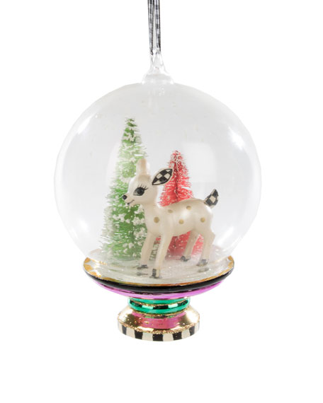 MacKenzie-Childs Dearest Deer Cloche Ornament