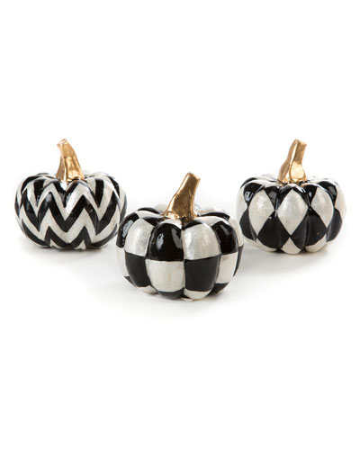 Capiz Pumpkins  Set Of 3