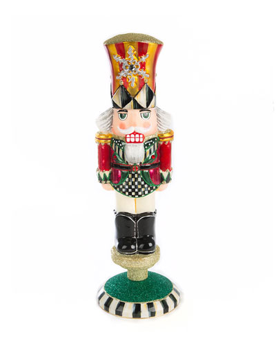 Nutcracker Reflector Glass Figurine