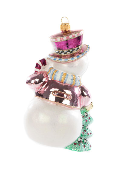 Home Sweet Snowman Glass Ornament