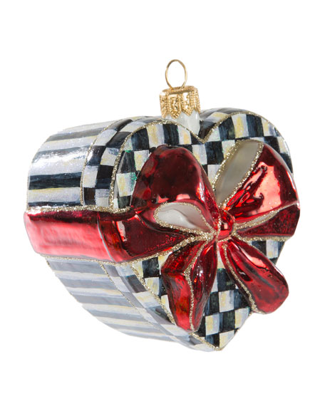 Sweetheart Box Glass Ornament