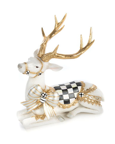 White Bow Tie Resting Deer