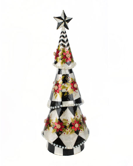 MacKenzie-Childs Poinsettia & Pearl Capiz Large Tree