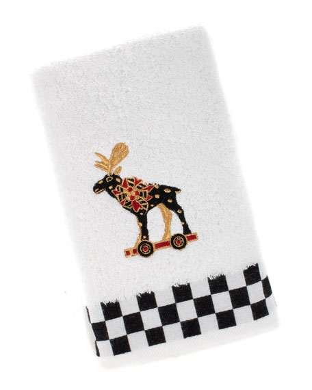 MacKenzie-Childs Moose Hand Towel