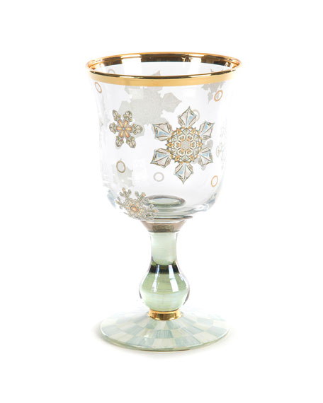 MacKenzie-Childs Snowfall Water Glass
