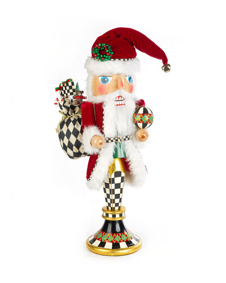 MacKenzie-Childs Father Christmas Pedestal Nutcracker