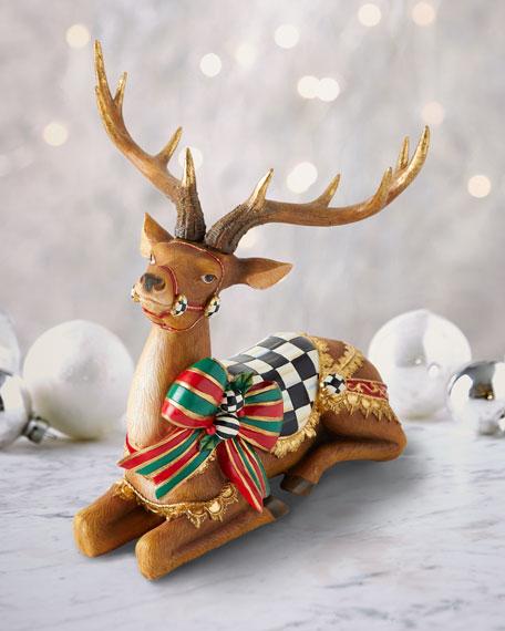 Resting Bow Tie Deer Decor