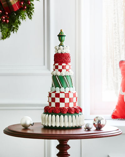 NM Christmas Tier Cake Decor