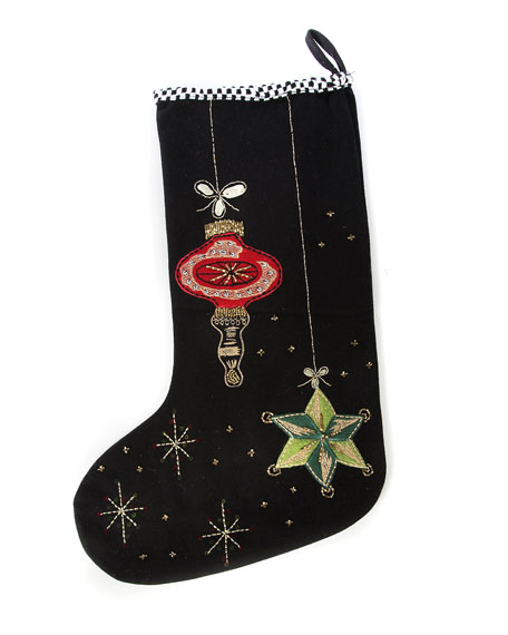 MacKenzie-Childs Bedford Falls Stocking