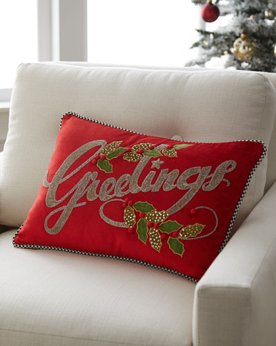 Mistletoe Greetings Lumbar Pillow