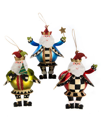 Jolly St. Nick Ornaments  Set of 3