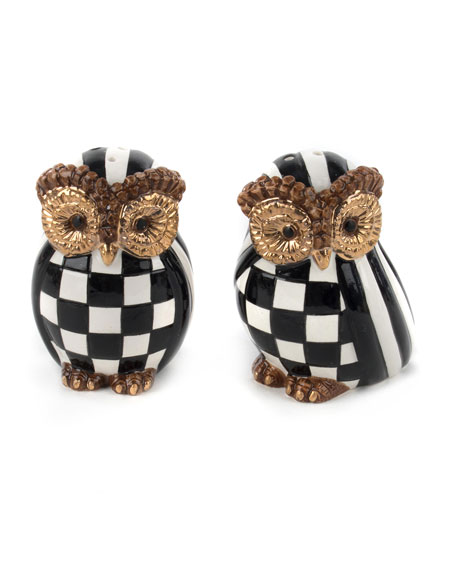 MacKenzie-Childs Owl Salt & Pepper Shakers