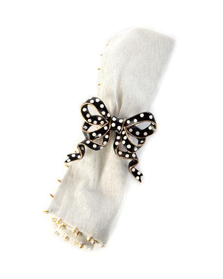 Bow Dots Napkin Ring